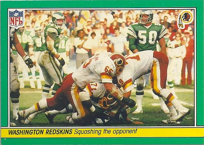 1984 Defense Redskins Fleer Team Action