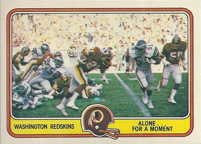 1981 Offense Redskins Fleer Team Action