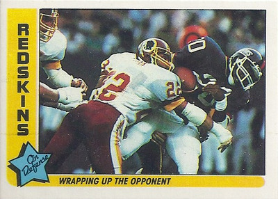 1985 Defense Redskins Fleer Team Action