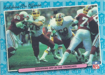 1986 Offense Redskins Fleer Team Action