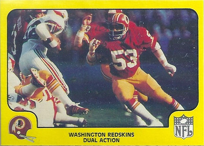 1978 Defense Redskins Fleer Team Action