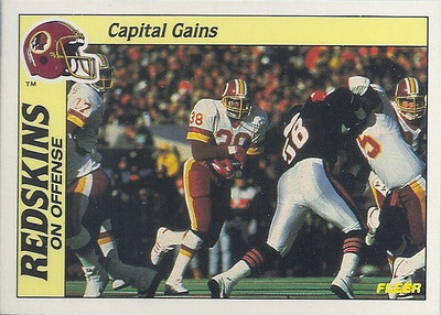 1988 Offense Redskins Fleer Team Action