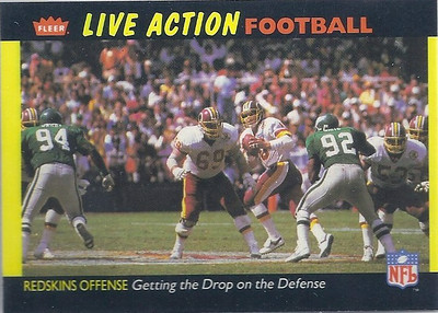 1987 Offense Redskins Fleer Team Action