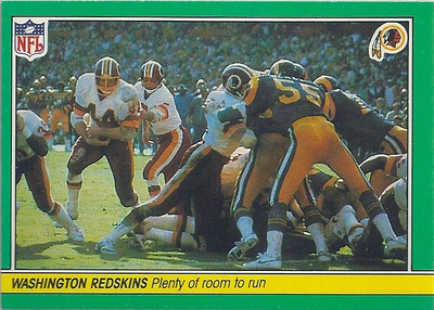 1984 Offense Redskins Fleer Team Action