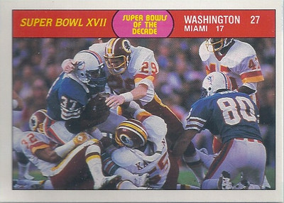 1988 Suber Bowl XVII Fleer Team Action