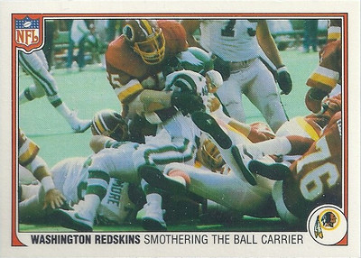 1983 Defense Redskins Fleer Team Action