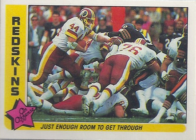 1985 Offense Redskins Fleer Team Action