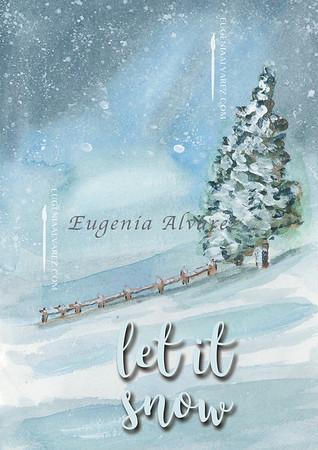 Let it Snow, Winter Tree Card, Winter Wonderland Card, Merry Christmas, Holiday Card, Christmas Card, Happy Holidays Greeting Card