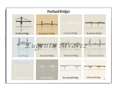 Portland Bridges Notecards