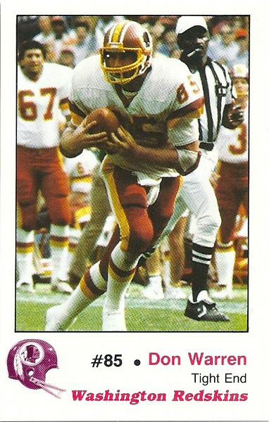 Don Warren 1982 Redskins Police