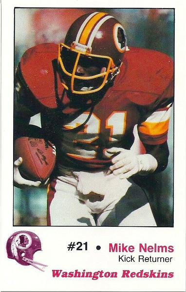 Mike Nelms 1982 Redskins Police