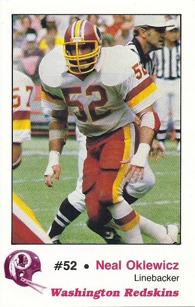 Neal Oklewicz 1982 Redskins Police