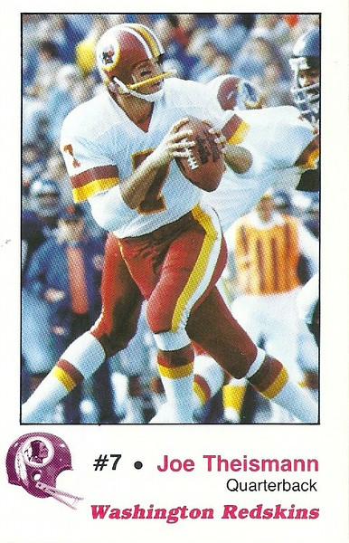 Joe Theismann 1982 Redskins Police
