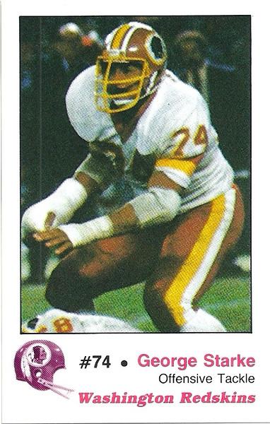 George Starke 1982 Redskins Police