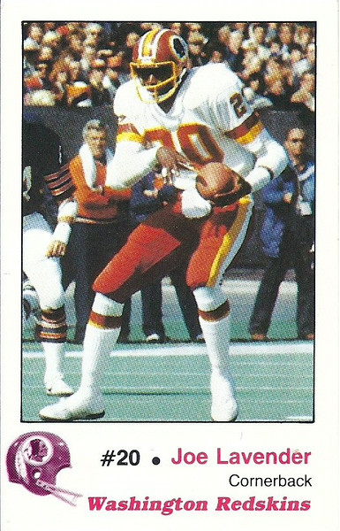 Joe Lavender 1982 Redskins Police
