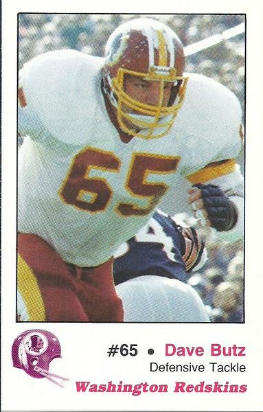 Dave Butz 1982 Redskins Police