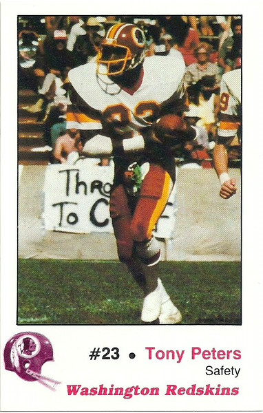 Tony Peters 1982 Redskins Police