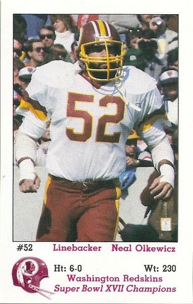Neal Olkewicz 1983 Redskins Police