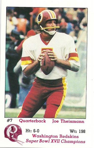 Joe Theismann 1983 Redskins Police
