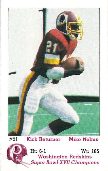 Mike Nelms 1983 Redskins Police