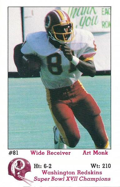 Art Monk 1983 Redskins Police