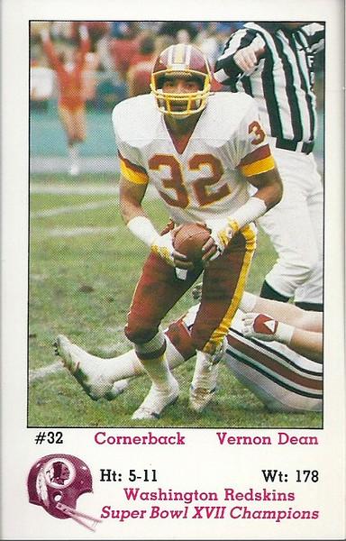 Vernon Dean 1983 Redskins Police