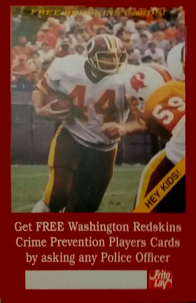 1983 Redskins Police Cards Poster John Riggins