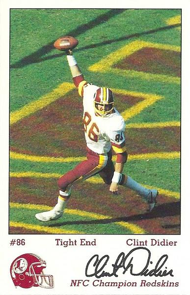 Clint Didier 1984 Redskins Police