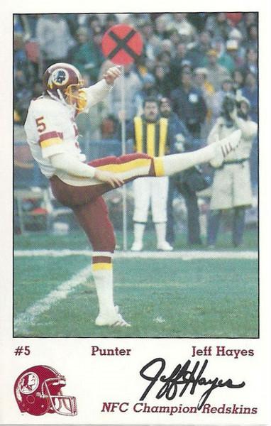 Jeff Hayes 1984 Redskins Police