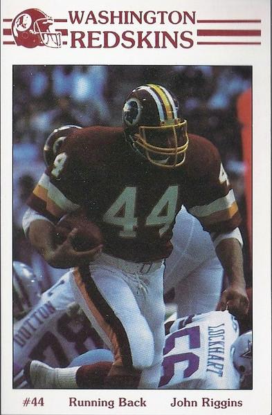 John Riggins 1985 Redskins Police Card