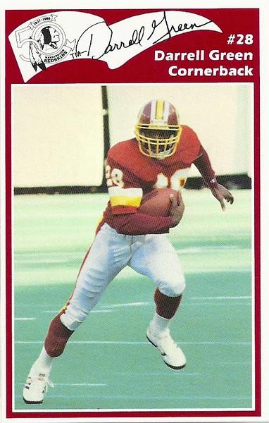Darrell Green 1986 Redskins Police Card