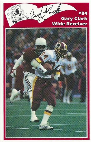 Gary Clark 1986 Redskins Police Card