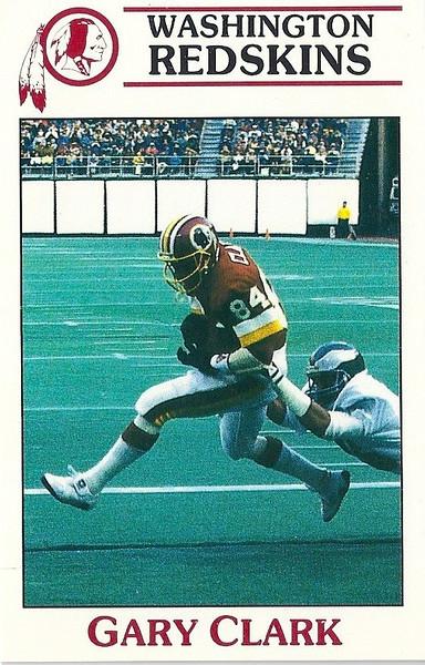 Gary Clark 1987 Redskins Police