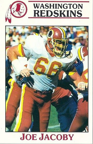 Joe Jacoby 1987 Redskins Police