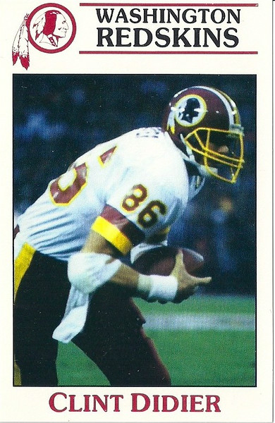 Clint Didier 1987 Redskins Police