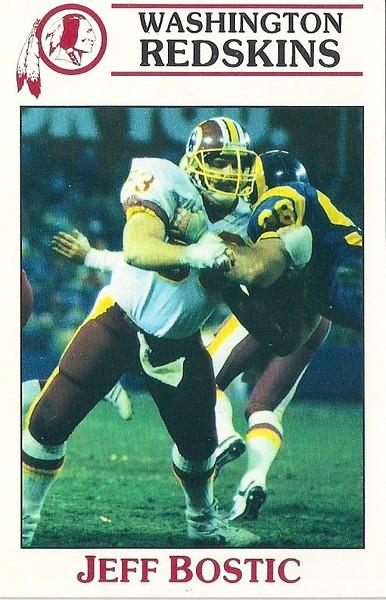 Jeff Bostic 1987 Redskins Police