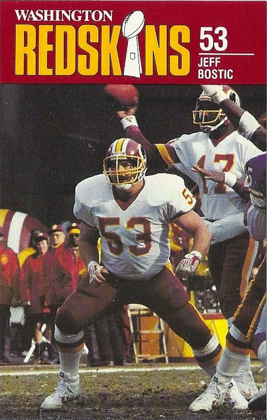 Jeff Bostic 1988 Redskins Police