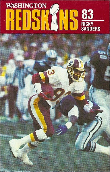 Ricky Sanders 1988 Redskins Police