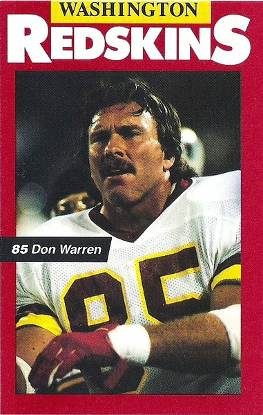Don Warren 1989 Redskins Police