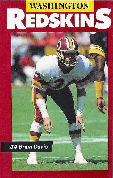 Brian Davis 1989 Redskins Police