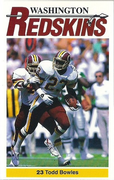 Todd Bowles 1990 Redskins Police
