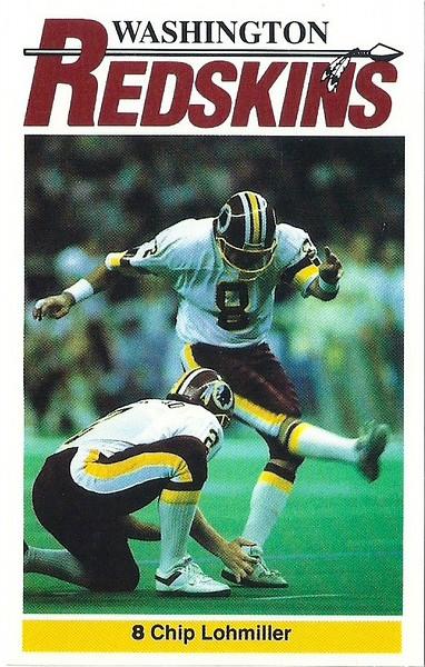 Chip Lohmiller 1990 Redskins Police