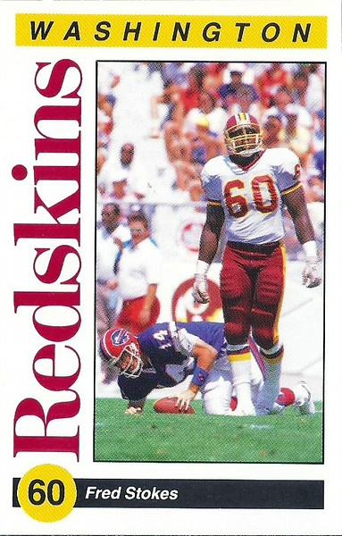 Fred Stokes 1991 Redskins Police