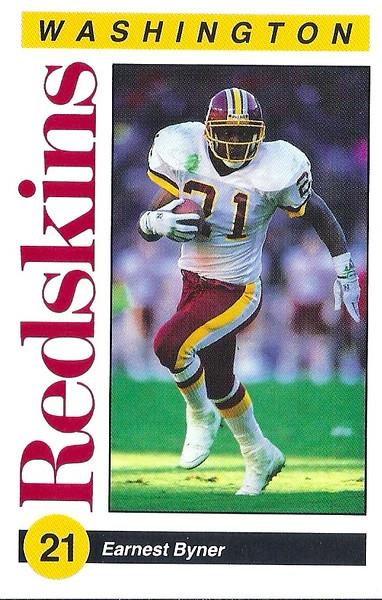 Earnest Byner 1991 Redskins Police