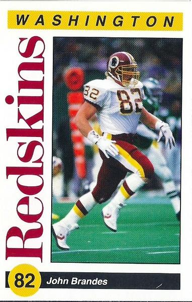 John Brandes 1991 Redskins Police