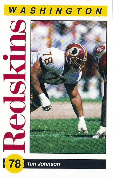 Tim Johnson 1991 Redskins Police