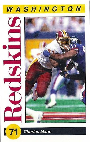 Charles Mann 1991 Redskins Police