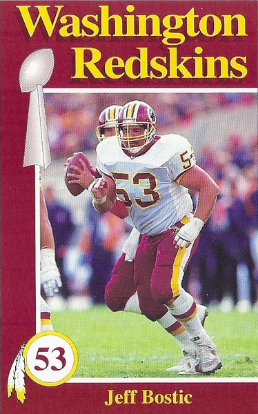 Jeff Bostic 1992 Redskins Police