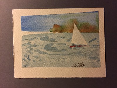 Original Watercolor by Pat Heller