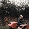 Pa driving tractor Thorrington